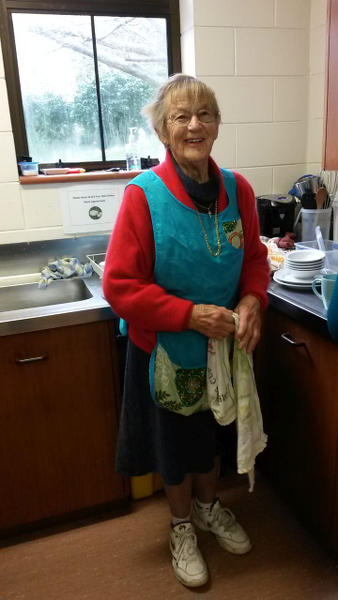 Patricia Gall is a regular helper at the Tuesday Community Café.